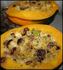 Image of Acorn Squash With Cranberry Filling, Recipe Key