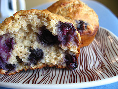Image of Oatmeal Blueberry Muffins, Recipe Key
