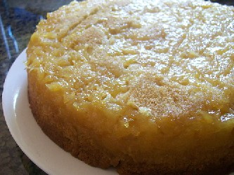 Image of Pineapple Up-side Down Cake, Recipe Key