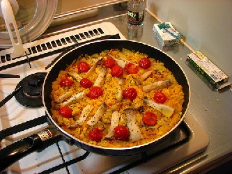 Image of Skillet Chicken Paella, Recipe Key