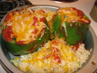 Image of Baked Stuffed Peppers, Recipe Key