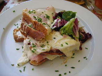 Image of A Croque Monsieur Salad, Recipe Key