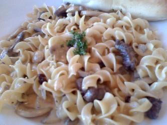Image of Beef Stroganoff, Recipe Key