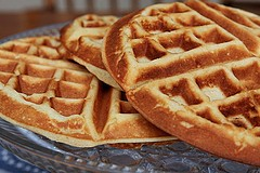 Image of Belgian Waffles With Blueberries, Recipe Key