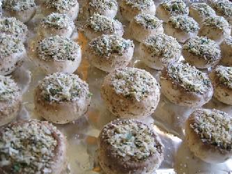 Fresh Stuffed Mushrooms