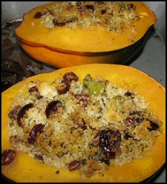 Acorn Squash With Cranberry Filling