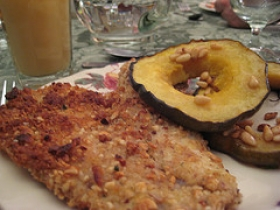 Acorn Squash With Pine Nuts