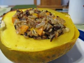 Acorn Squash & Wild Rice