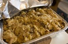 Almond-Sausage Stuffing