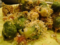 Baked Brussels Sprouts Au Gratin