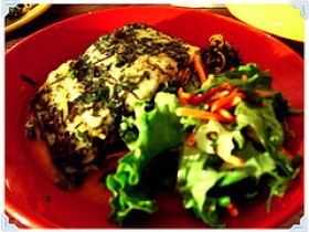 Baked Halibut in Herbs