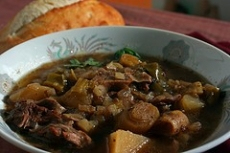Baked Lamb Stew with Fresh Rosemary