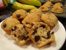 Banana Chocolate Mini-Muffins