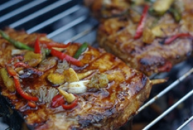 Barbecued Swordfish Steak