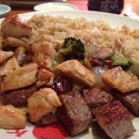 Benihana Hibachi Chicken and Hibachi Steak