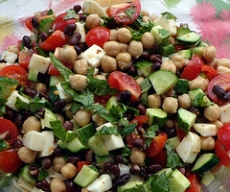 Black Bean - Cucumber Salad