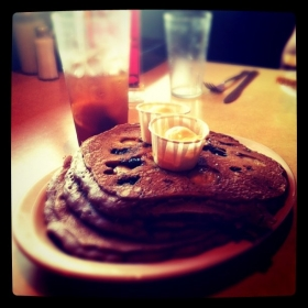 Blueberry Gingerbread Pancakes