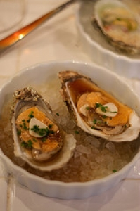 Broiled Garlic Oysters