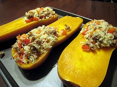 Butternut Squash With Stuffing