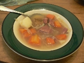 Cabbage & Beef Soup
