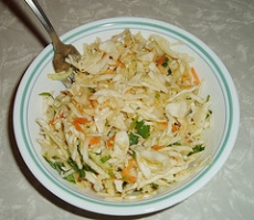Cabbage & Cilantro Slaw
