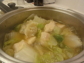 Cabbage & Dumpling Soup