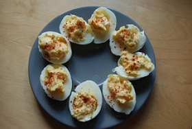 Chili Deviled Eggs
