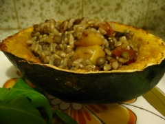 Curried Stuffed Acorn Squash
