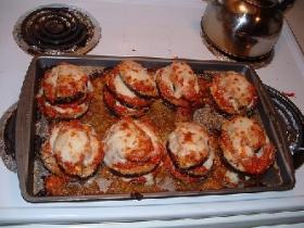 Eggplant Parmigiana Rounds