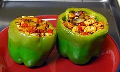 Eggplant Stuffed Peppers