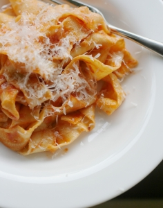 Fresh Pasta And Tomato Sauce