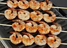 Garlic Skewered Shrimp