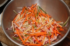 Glazed Julienne Carrots
