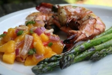 Grilled Shrimp with Mango and Jalapeno Salsa