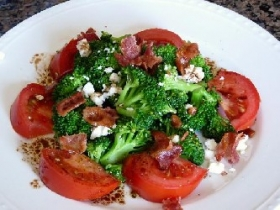 Marinated Broccoli and Tomato Salad