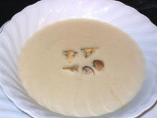 Milk and Mushrooms Soup