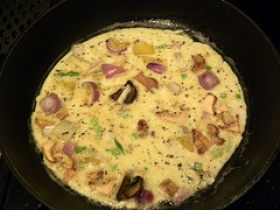 Onion-Mushroom Omelet