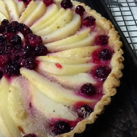 Pear and Cranberry Tart