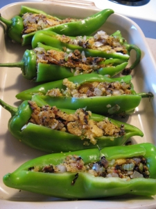 Polenta Stuffed Peppers