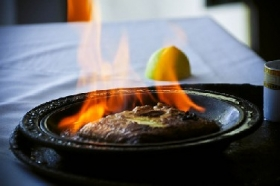 Saganaki (Greek Flaming Cheese)