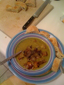 Split Pea Soup with Sausage