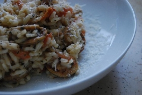 Tomato Basil Risotto with Feta Cheese