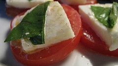 Tomatoes Mozzarella and Basil