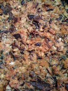 Wild Mushroom Bread Pudding