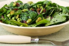 Wilted Spinach with Lemon and Pine Nuts