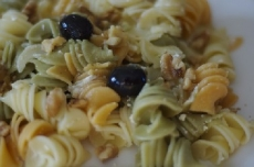Summer Pasta with Olives, Roasted Peppers and Capers
