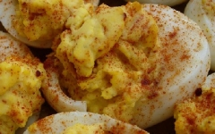 Red Deviled Eggs