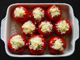 Broccoli Stuffed Tomatoes