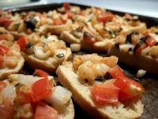 Oven Roasted Shrimp Toasties