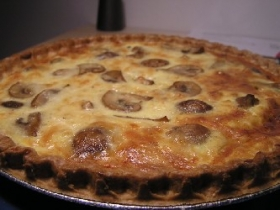 Corn and Mushroom Quiche